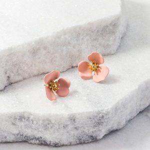 Anthropologie Dogwood Flower Earrings By Zenzii